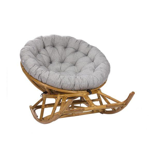 Кресло-качалка PAPASUN ROCKER CHAIR на полозьях c подушкой выгодно от VittaMebel.ru