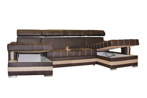 Угловой диван Уют П-образный выгодно от VittaMebel.ru