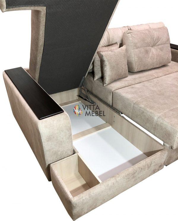 Угловой диван Дублин выгодно от VittaMebel.ru