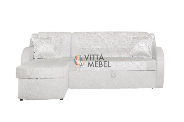 Угловой диван Моника милк выгодно от VittaMebel.ru