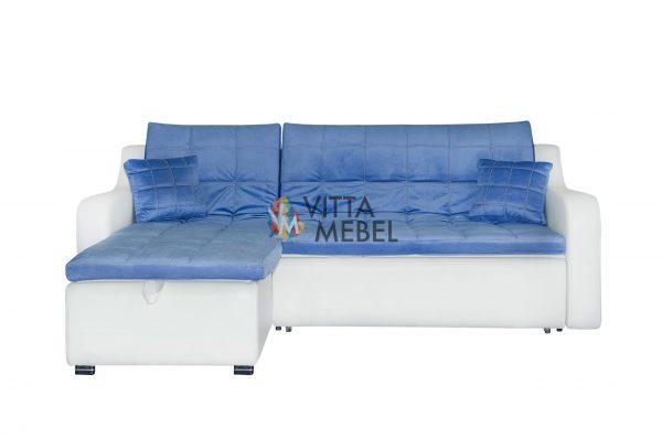 Угловой диван Бостон blue выгодно от VittaMebel.ru