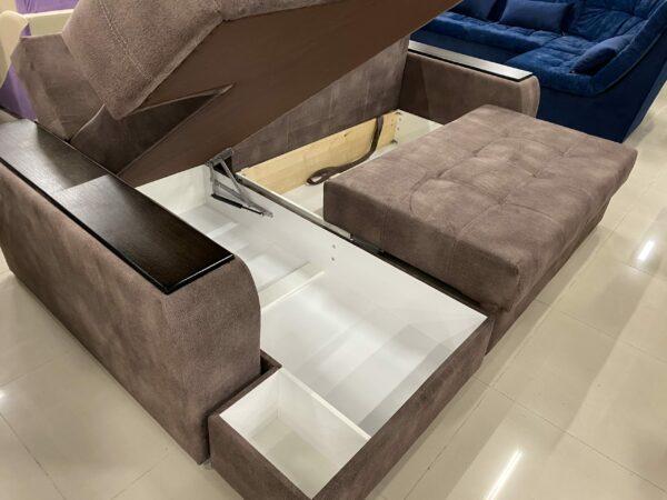 Угловой диван Дублин браун выгодно от VittaMebel.ru