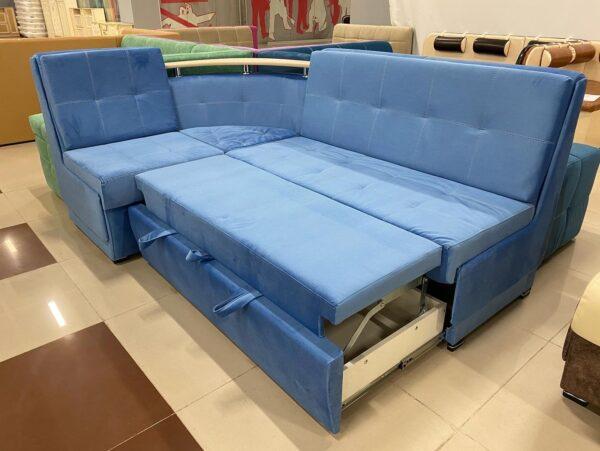 Кухонный угол Лука Премиум со спальным местом blue выгодно от VittaMebel.ru