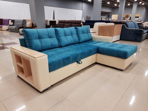 Угловой диван Зара blue выгодно от VittaMebel.ru