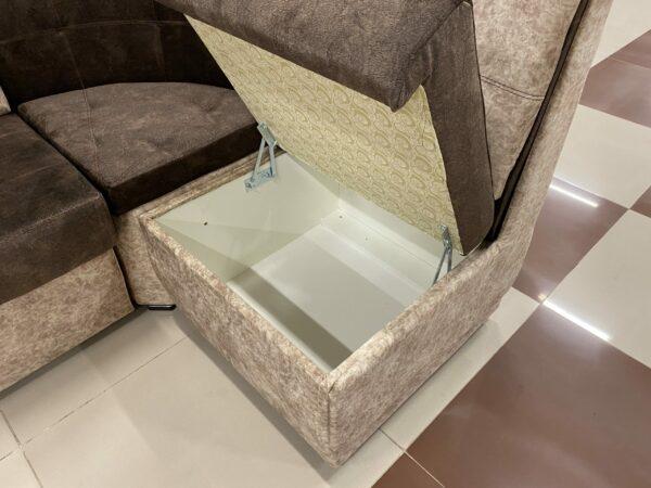 Кухонный угол Лука Премиум со спальным местом brown/beige выгодно от VittaMebel.ru