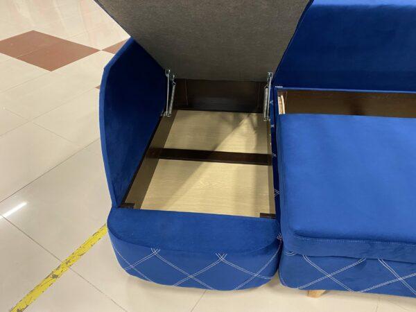 Угловой диван Гамма EVB blue выгодно от VittaMebel.ru